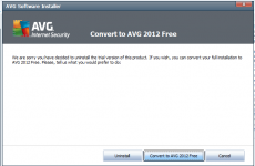 How to convert AVG trial to AVG Free version