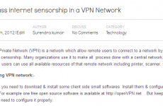 Bypass internet sensorship in a VPN Network
