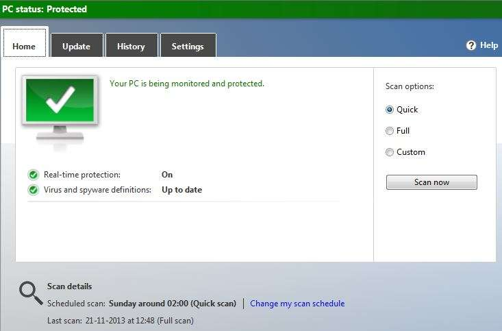 Folders changed to Aplication .exe virus and spyware definitions up to date to avoid virus
