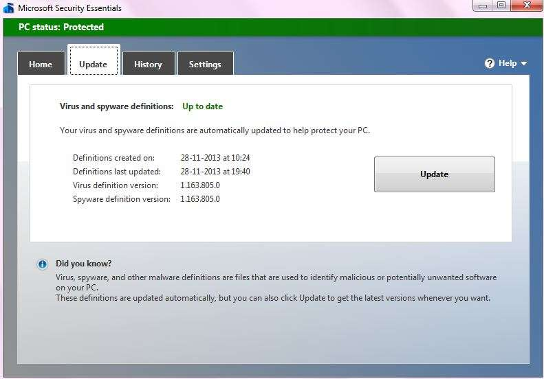 virus definition update to avoid folders changed to exe and other virus