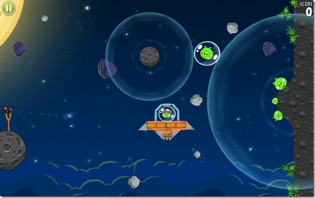 Angry Birds space on Galaxy Note