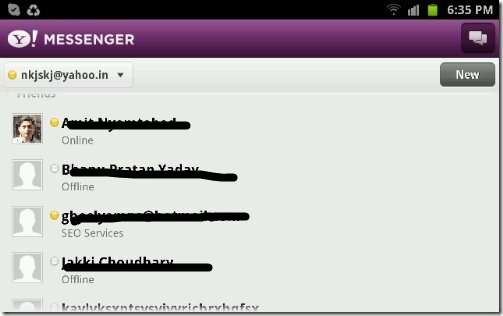 Yahoo-messenger-on-Android-Galaxy-Note - free video calling options