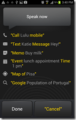voice commands on android