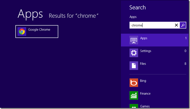 quick open apps and programs in windows 8