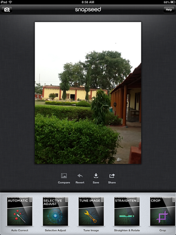 how to use snapseed for android