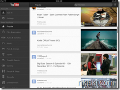 youtube app for ipad home screen