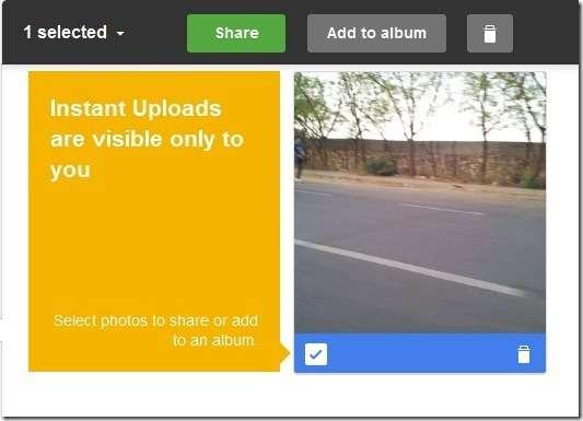 share instant uploads
