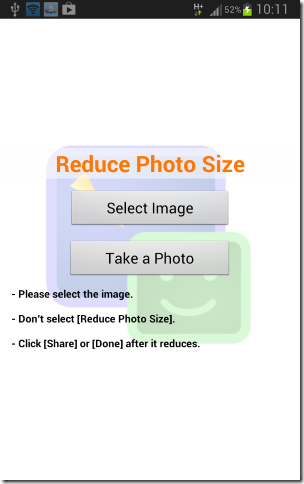 Select images to resize them (Mobile)