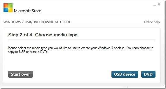 choose CD or flash drive