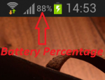 Show Battery Percentage in Status Bar on Android