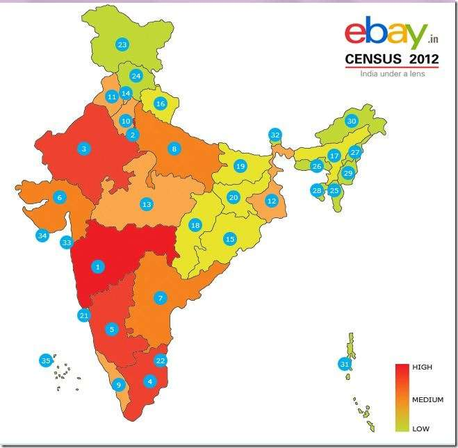 ebay census heat map