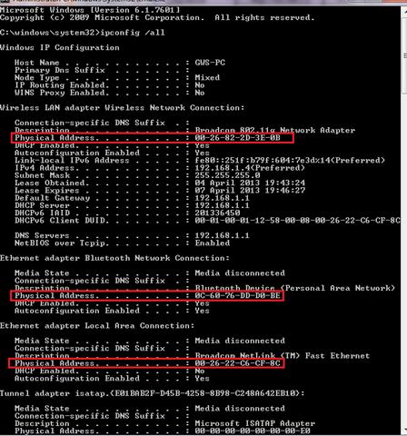 how to change mac adress in windows