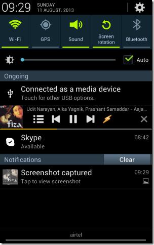 winamp advanced notification bar