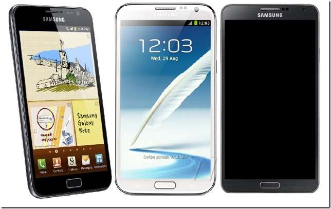 galaxy note series comparison