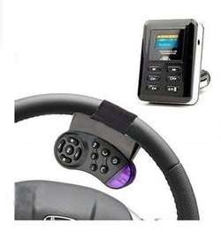 Bluetooth Car Kit FM Transmitter MP3 Player Steering Wheel USB SD MMC Handsfree