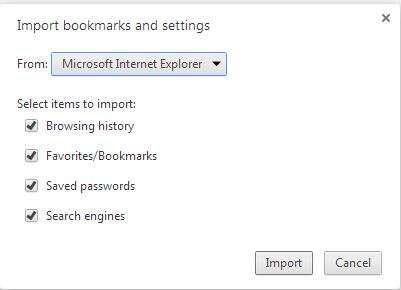 importing bookmarks, saved passwords, browsing history from firefox
