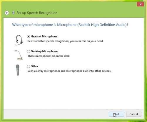 Set up Speech Recognition on Windows