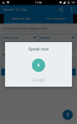 Speech to text app 2 - use voice control to text on android
