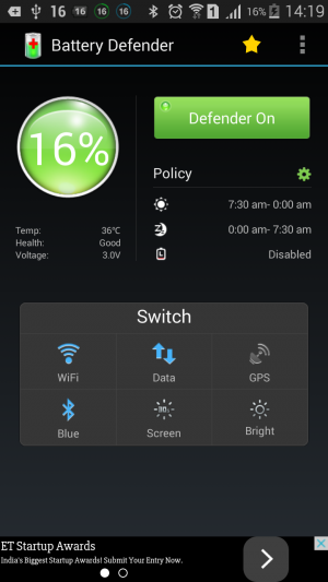 Battery Defender - Battery Saver App 2 battery saver app for android