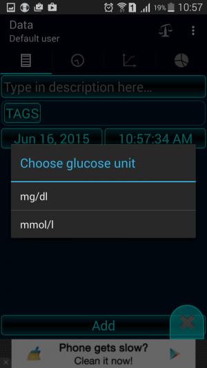 Diabetes – Glucose personal Diary app