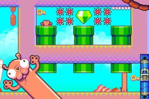 Top games for Android phone Silly Sausage in Meat Land