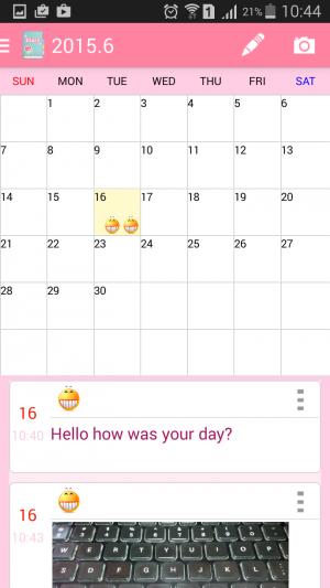 photo diary app calendar view 3
