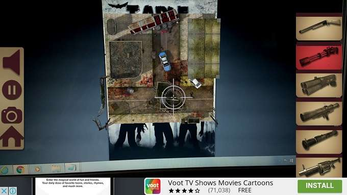 Playing Screen TableZombies Augmented Reality Game